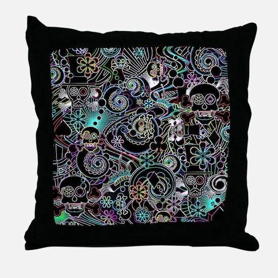 Unique Skulls Throw Pillow