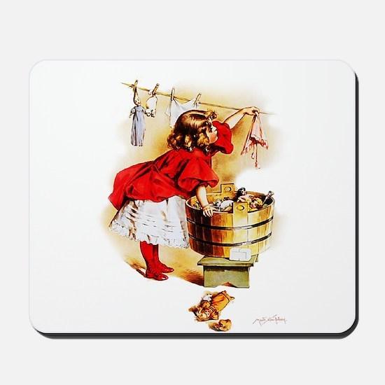 Maud Humphrey - Laundry Day Mousepad