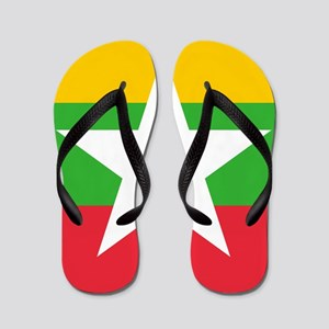 Flag of Myanmar Flip Flops