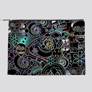Day of the Dead Flower Sugar Skulls Makeup Pouch