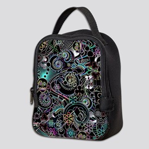 Day of the Dead Flower Sugar Sk Neoprene Lunch Bag
