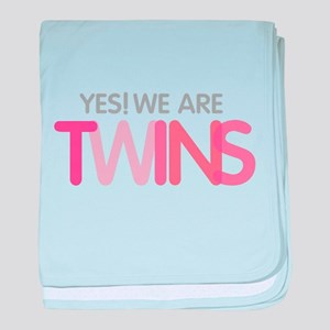 Yes We Are TWINS baby blanket