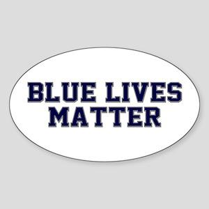 Blue Lives Matter Shadow Sticker (Oval)