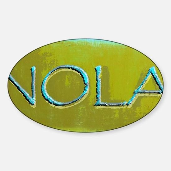 NOLA OLIVE TURQ Sticker (Oval)