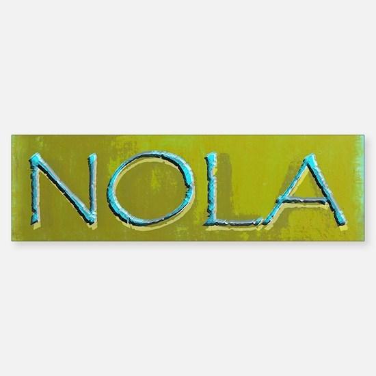 NOLA OLIVE TURQ Bumper Bumper Bumper Sticker