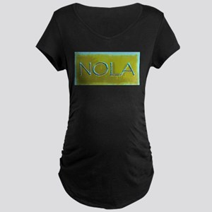 NOLA OLIVE TURQ Maternity T-Shirt