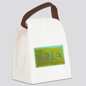 NOLA OLIVE TURQ Canvas Lunch Bag