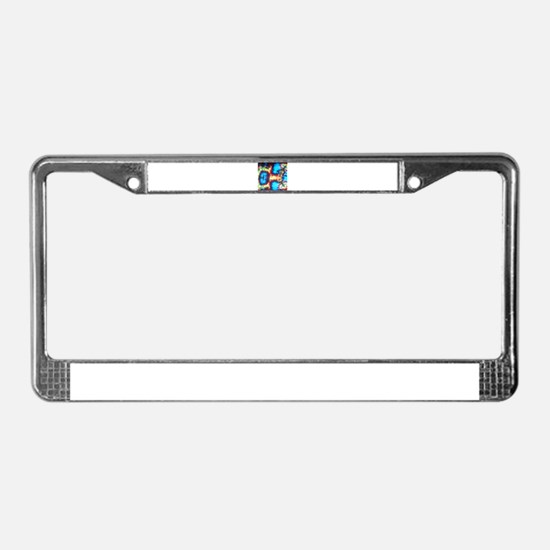 Tie Dye design License Plate Frame