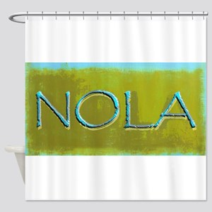 NOLA OLIVE TURQ Shower Curtain