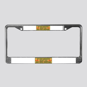 Action Plan License Plate Frame