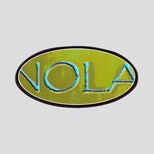 NOLA OLIVE TURQ Patch