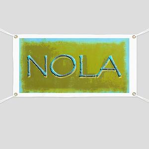 NOLA OLIVE TURQ Banner