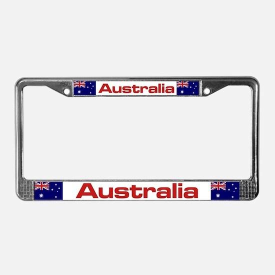 """""""Australia Flag"""" License Plate Frame"""