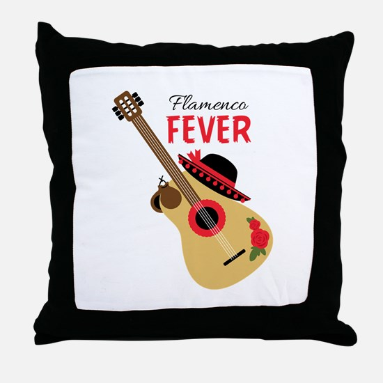 Flamenco Fever Throw Pillow