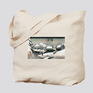snow covered mountain Tote Bag