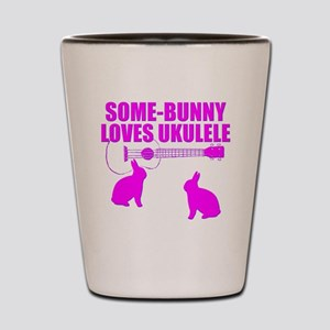Easter Ukulele bunny Shot Glass
