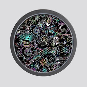 Paisley Flower Sugar Skulls, Day of the Wall Clock
