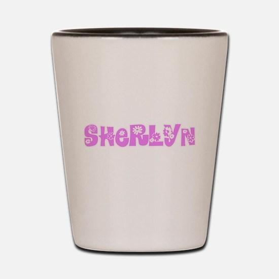 Sherlyn Flower Design Shot Glass