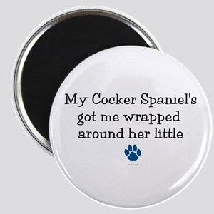 Wrapped Around Her Paw (Cocker Spaniel) Magnet