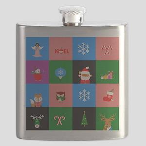 african santa claus colorblock Flask