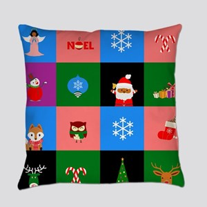 african santa claus colorblock Everyday Pillow