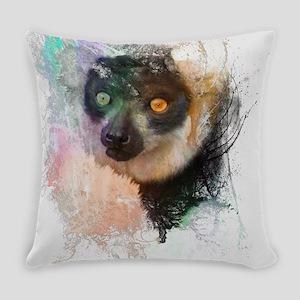 Water Splash Lemur Abstract Everyday Pillow