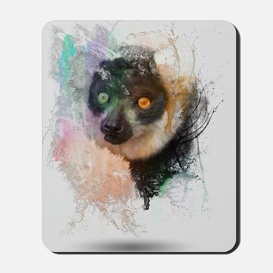 Water Splash Lemur Abstract Mousepad
