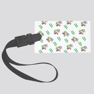 Cute Happy Camper Mouse Pattern Luggage Tag