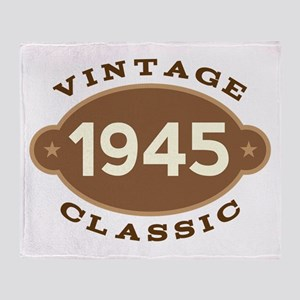 1945 Birth Year Birthday Throw Blanket