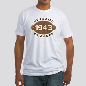 1943 Birth Year Birthday Fitted T-Shirt