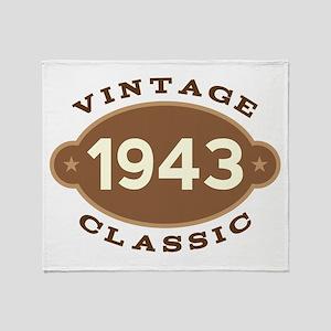 1943 Birth Year Birthday Throw Blanket