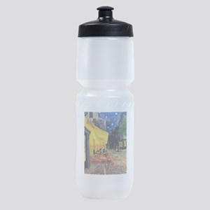 Van Gogh, Cafe Terrace at Night Sports Bottle