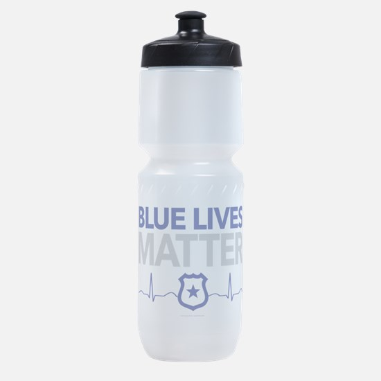 Blue Lives Matter Sports Bottle