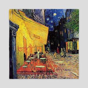Van Gogh, Cafe Terrace at Night Queen Duvet