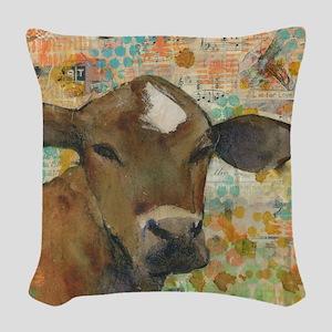 Baleful Eyes Animal Art Woven Throw Pillow