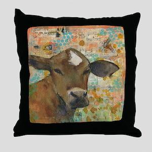 Baleful Eyes Animal Art Throw Pillow