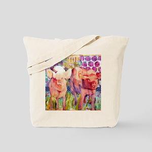 Little Piggies Animal Art Tote Bag