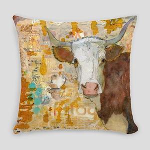 Steer Stare Animal Art Everyday Pillow