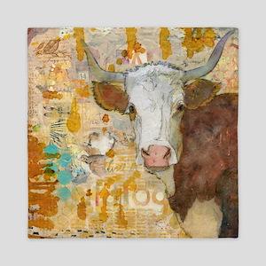 Steer Stare Animal Art Queen Duvet