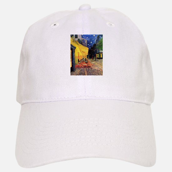 Van Gogh, Cafe Terrace at Night Baseball Baseball Cap