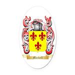 Mackell Oval Car Magnet