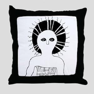 Sun shaman Throw Pillow