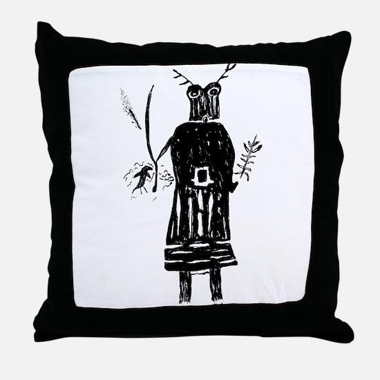 Funny Shaman Throw Pillow