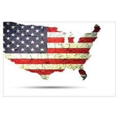 Flag USA Framed Print