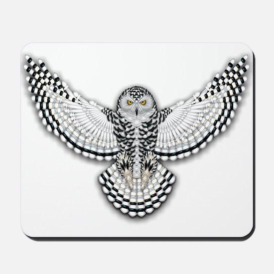 Beadwork Snowy Owl Mousepad