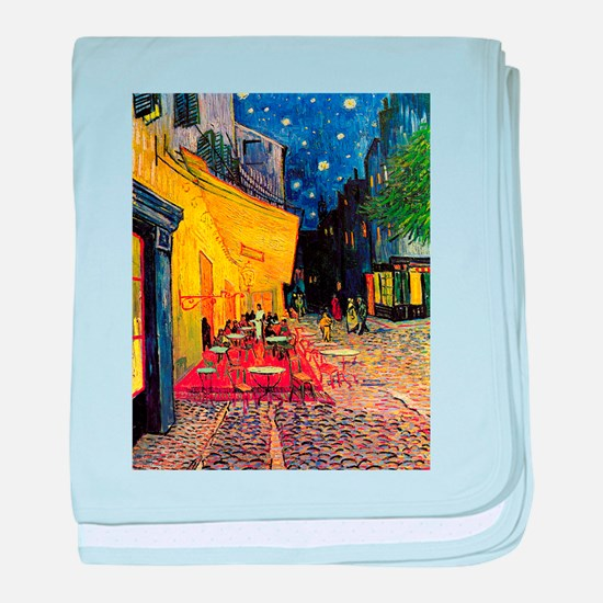 Van Gogh, Cafe Terrace at Night baby blanket