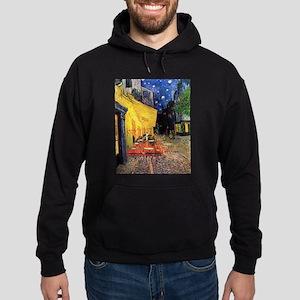 Van Gogh, Cafe Terrace at Night Hoodie (dark)