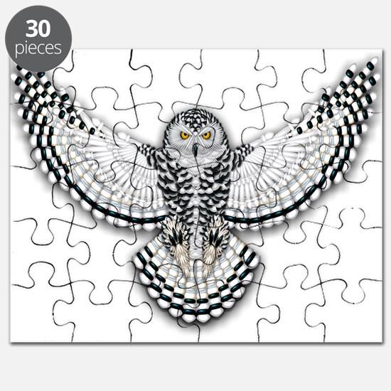 Beadwork Snowy Owl Puzzle