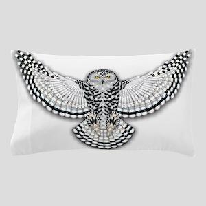 Beadwork Snowy Owl Pillow Case