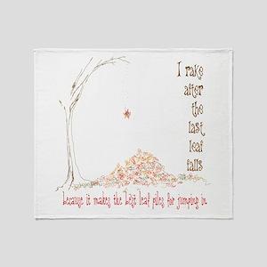 big leaf piles Throw Blanket
